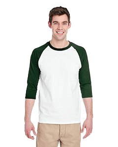 Gildan Adult Heavy Cotton™ 5.3 oz. 3/4-Raglan Sleeve T-Shirt